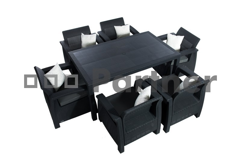 Zahradní nábytek - Deokork - Corfu Lounge II 1+6 (um. ratan) *polštáře ZDARMA