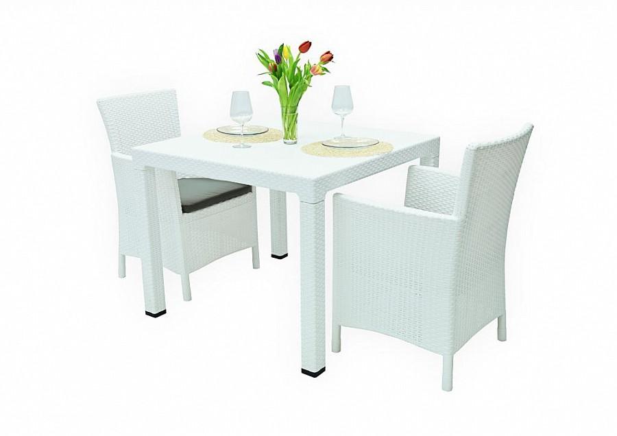 Zahradní nábytek - Deokork - Havana Mini 1+2 (bílá) (um. Ratan)