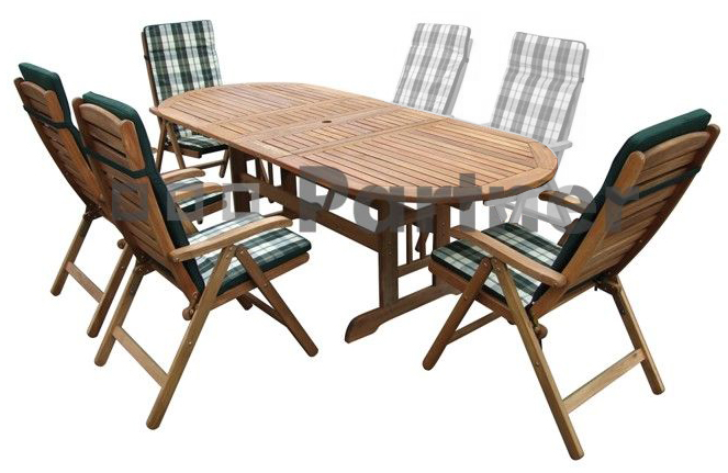 Záhradní nábytek - Deokork - Edinburgh 1+4 (Akácie)