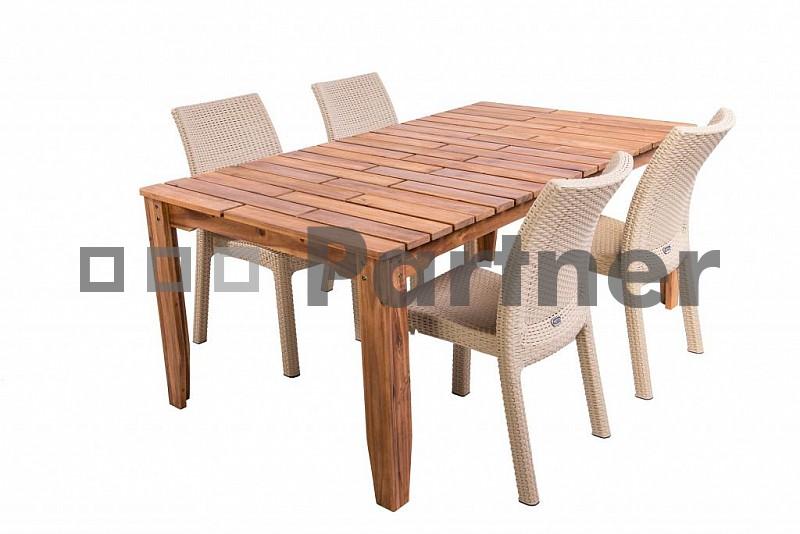 Zahradní nábytek - Deokork - Glasgow II. 1+4 písková (um. ratan)
