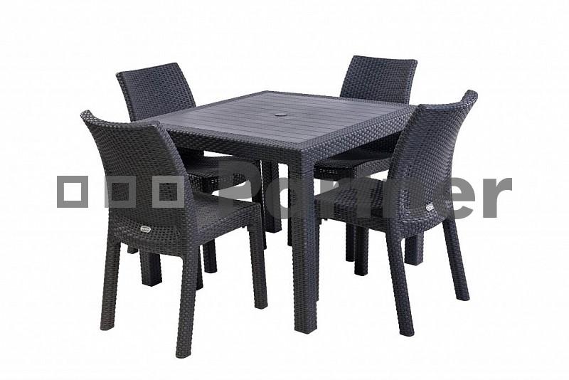 Zahradní nábytek - Deokork - Puket Mini 1+4 antracit (um. ratan)