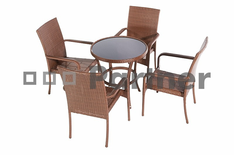 Záhradní nábytek - Deokork - Bern 1+4 (um. ratan)