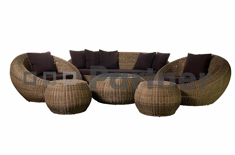 Záhradní nábytek - Deokork - Čajová (um. ratan)