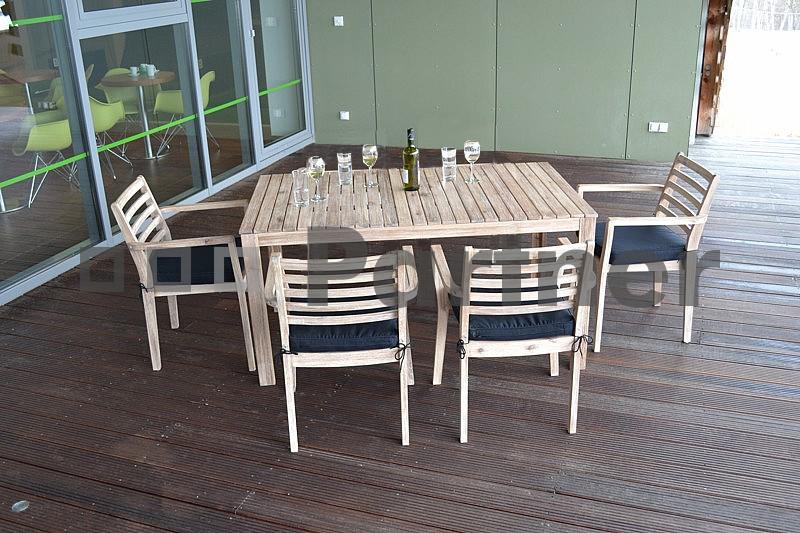 Záhradní nábytek - Deokork - Chesterfield II. 1+4 (Akácie)