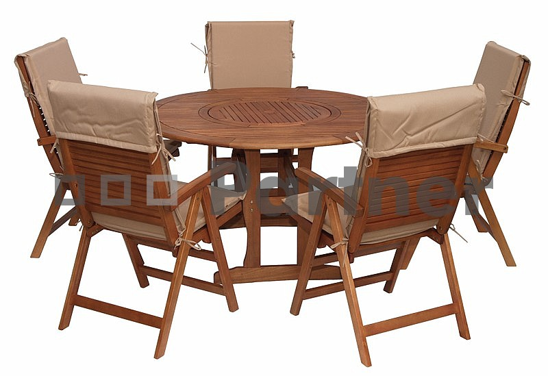 Záhradní nábytek - Deokork - Malaga 1+5 (Eukalyptus)