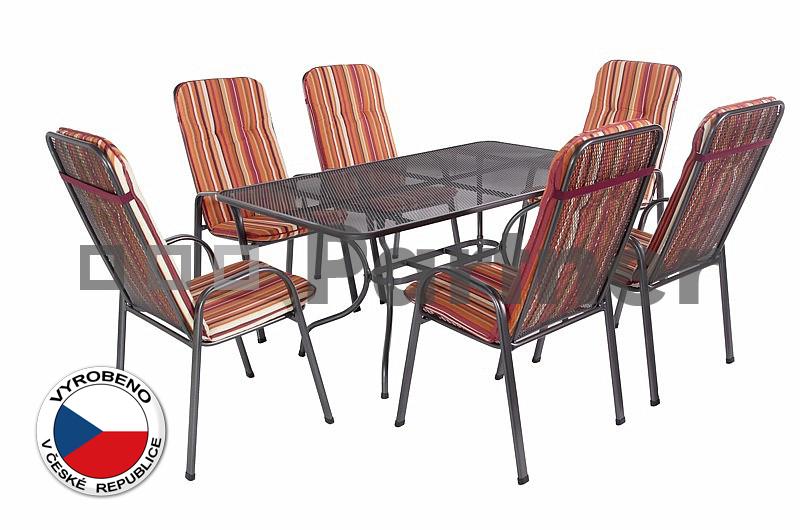Záhradní nábytek - Deokork - Sandra 1+6 U506 (kov)
