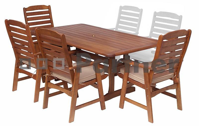 Záhradní nábytek - Deokork - Zaragoza 1+4 (Eukalyptus)