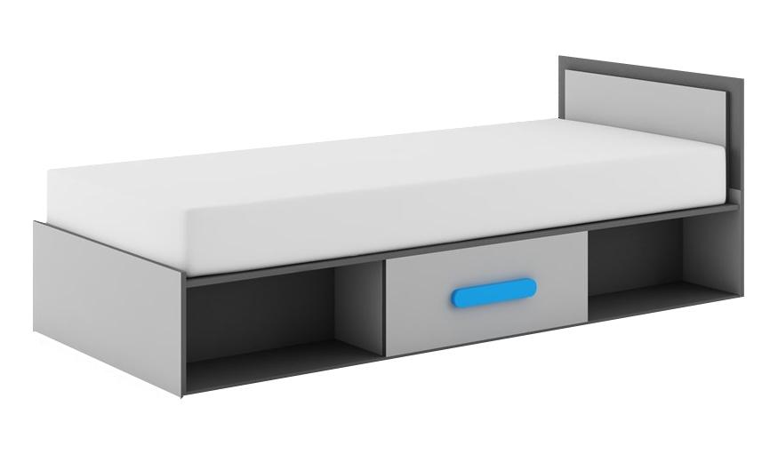Jednolůžková postel 90 cm - Dig-net - Play - PL-16 (s matracem)