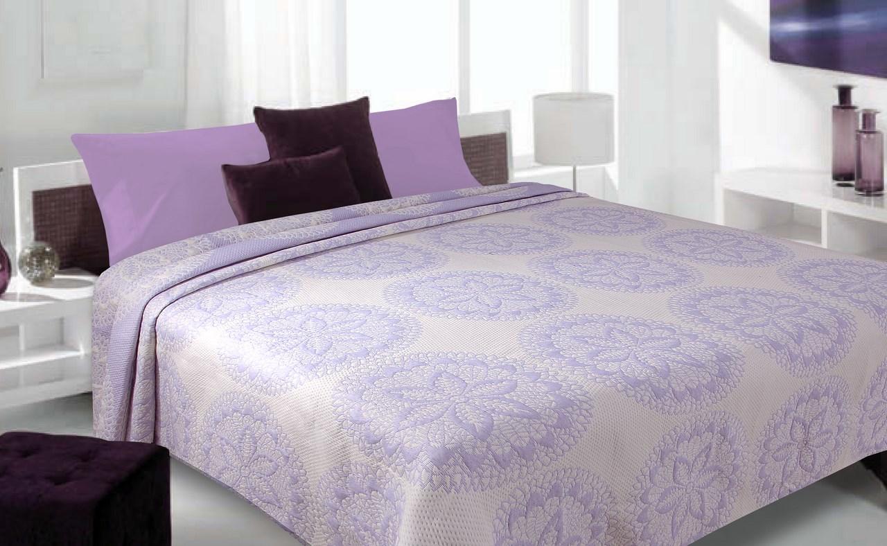 Přehoz na postel 240x220cm - Eurofirany - Samero (fialová)