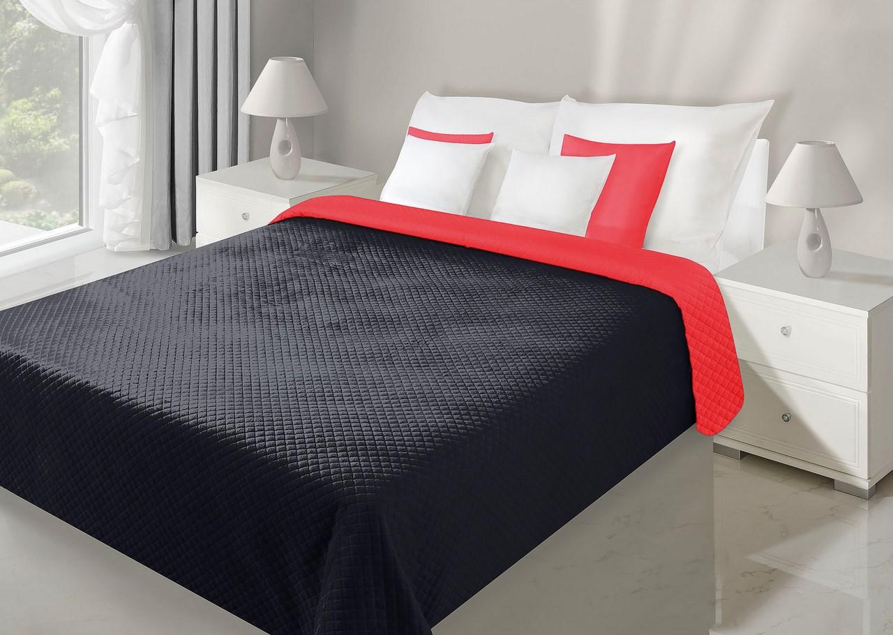 Přehoz na postel 150x70cm - Eurofirany - Filip (červená + černá)