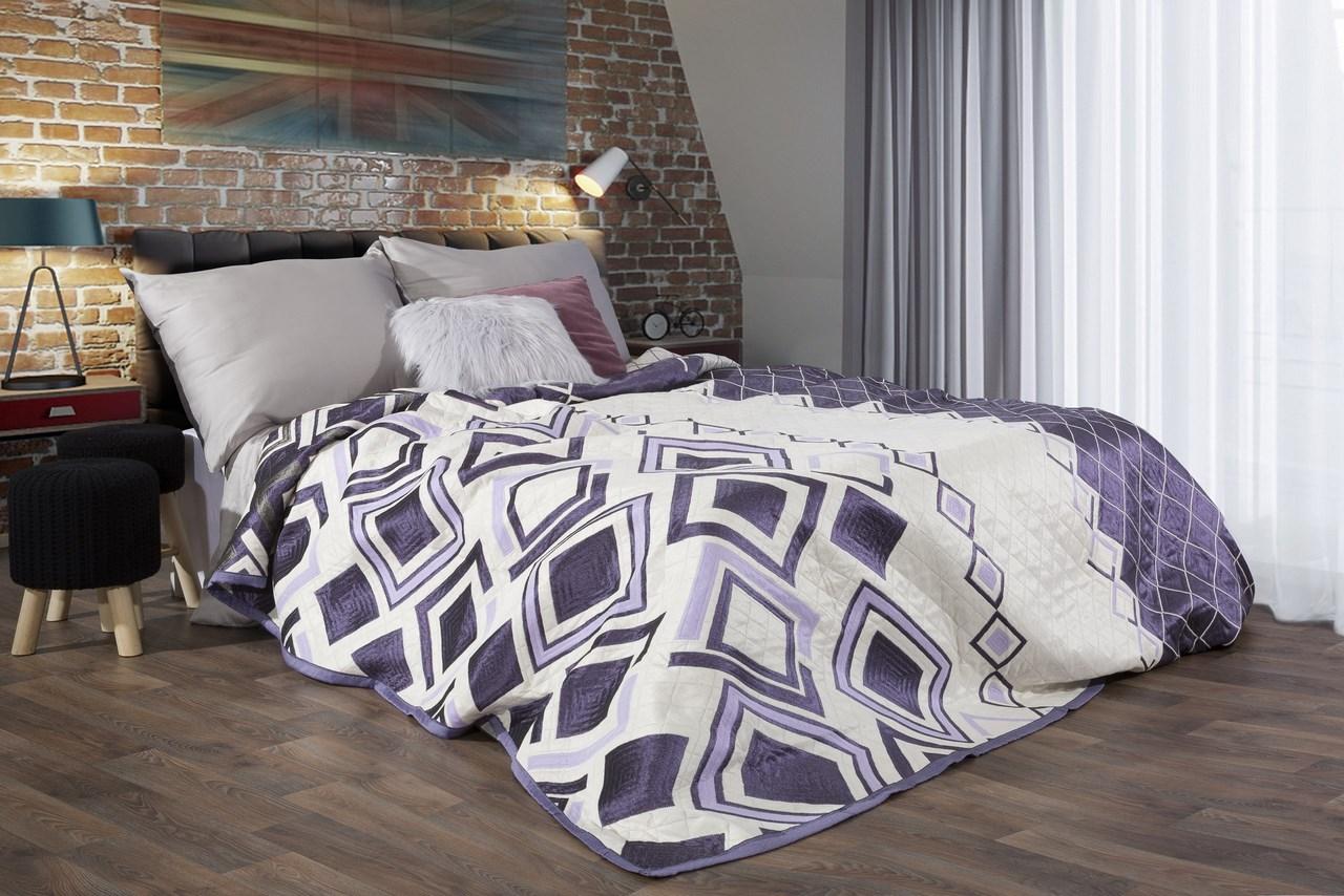 Přehoz na postel 260x230cm - Eurofirany - Elle (fialová)
