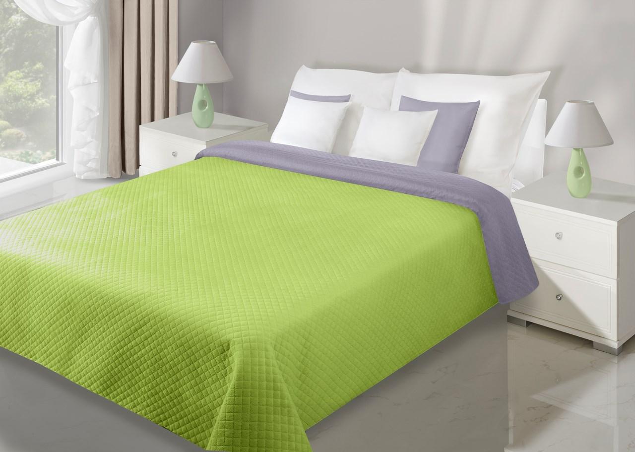 Přehoz na postel 240x220cm - Eurofirany - Filip (fialová + zelená)