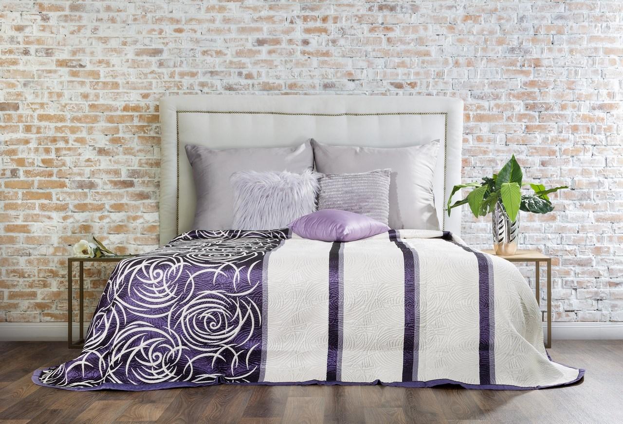Přehoz na postel 210x170cm - Eurofirany - Sue (fialová)