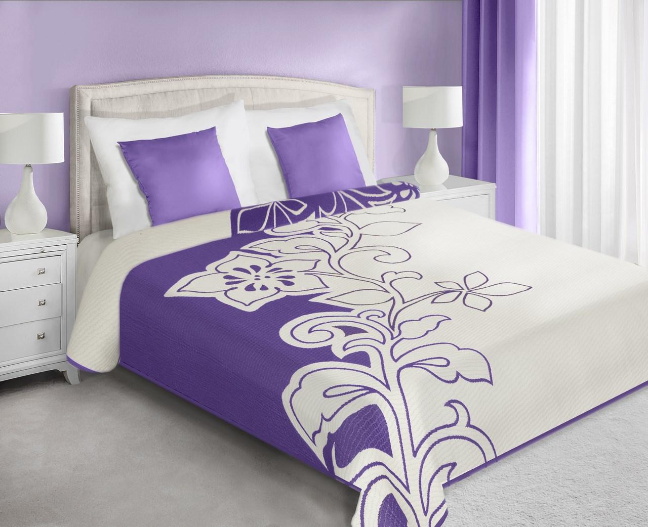Přehoz na postel 210x170cm - Eurofirany - Zeno (fialová)