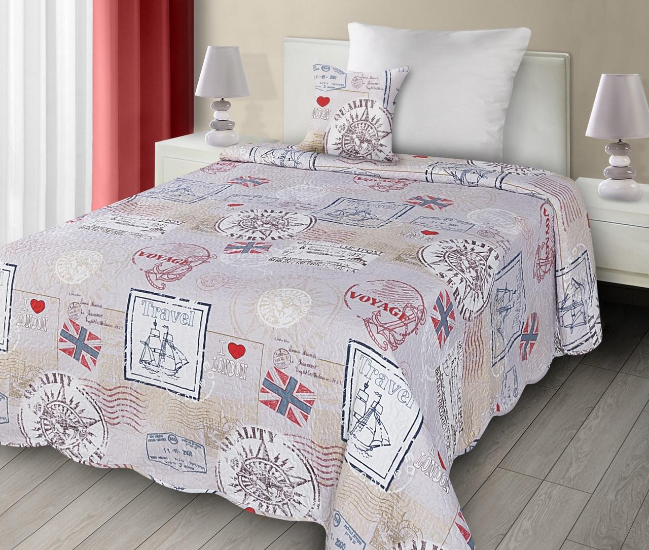 d1e6f8779d27 Přehoz na postel 210x170cm - Eurofirany - Londyn (metalická + fialová)
