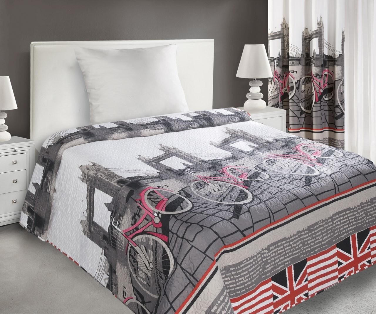 Přehoz na postel 210x170cm - Eurofirany - Usa (šedá)