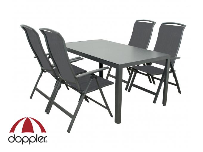 Zahradní nábytek - Doppler - Avola Pesaro 1+4 (hliník)