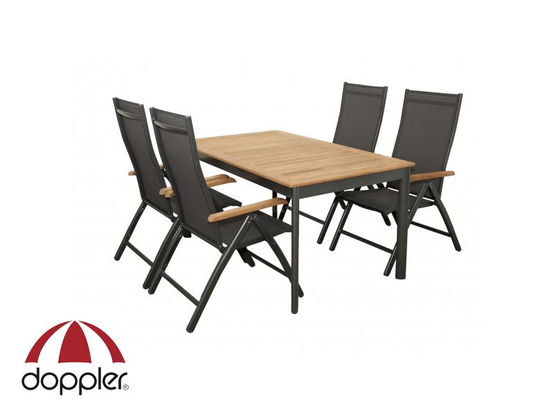 Zahradní nábytek - Doppler - Concept 1+4 (hliník + teak)