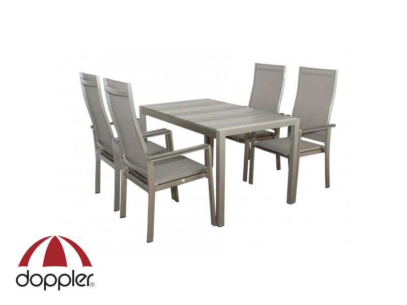 Zahradní nábytek - Doppler - Nova 1+4 (hliník + polywood)