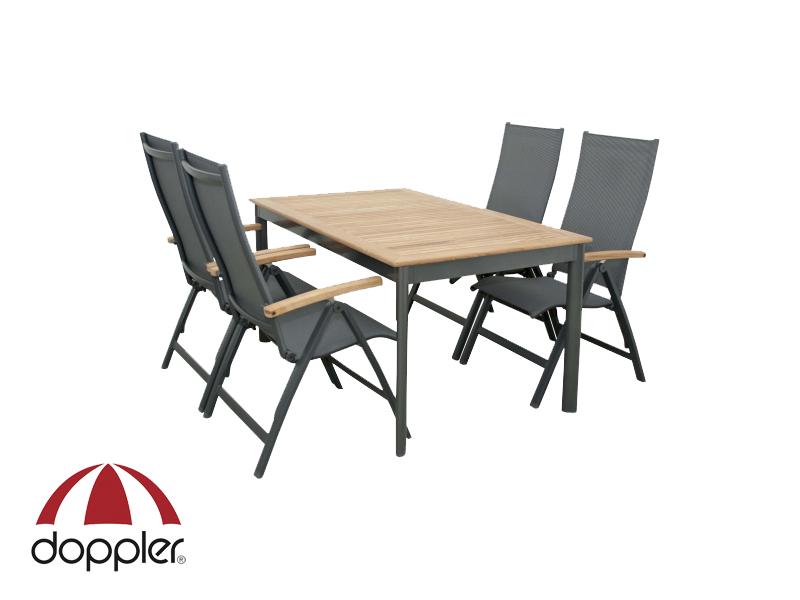 Zahradní nábytek - Doppler - Parro Concept 1+4 (hliník + teak)