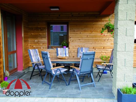 Zahradní nábytek - Doppler - Parro Concept 1+6 (hliník + teak)