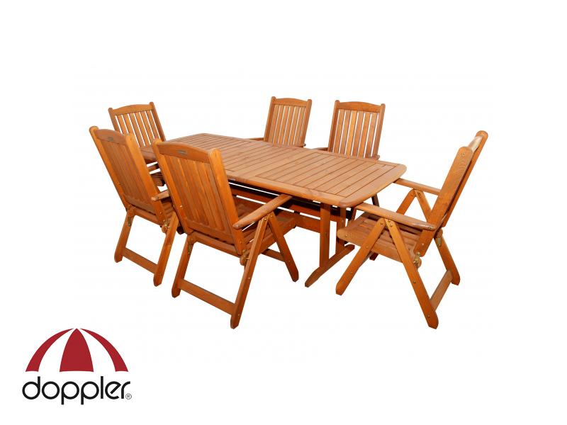 Zahradní nábytek - Doppler - Wörthersee 1+6 (borovice)