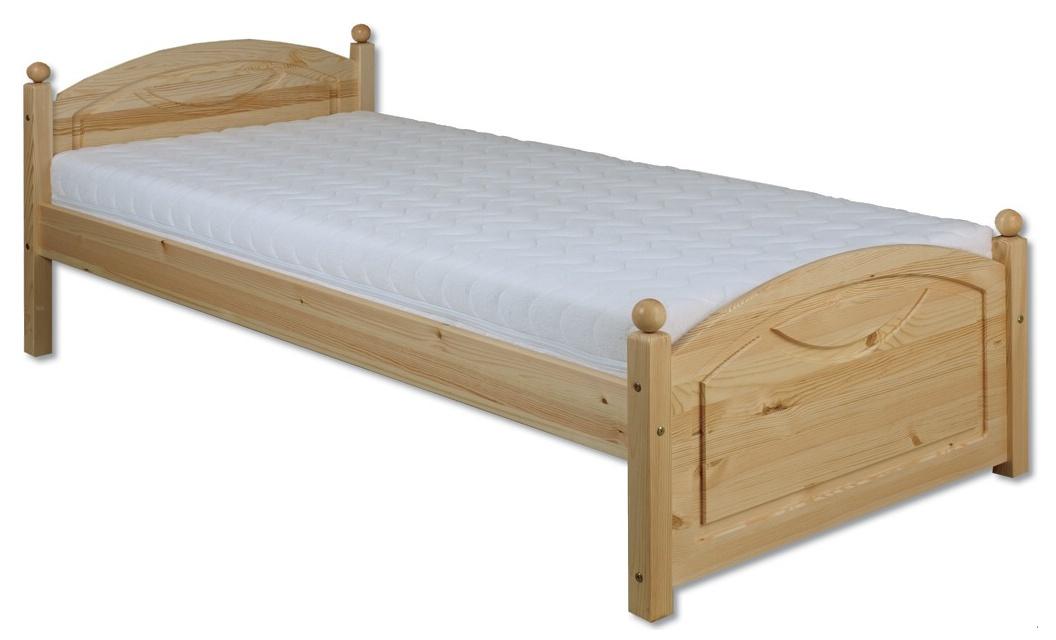 Jednolůžková postel 80 cm - Drewmax - LK 126 (masiv)