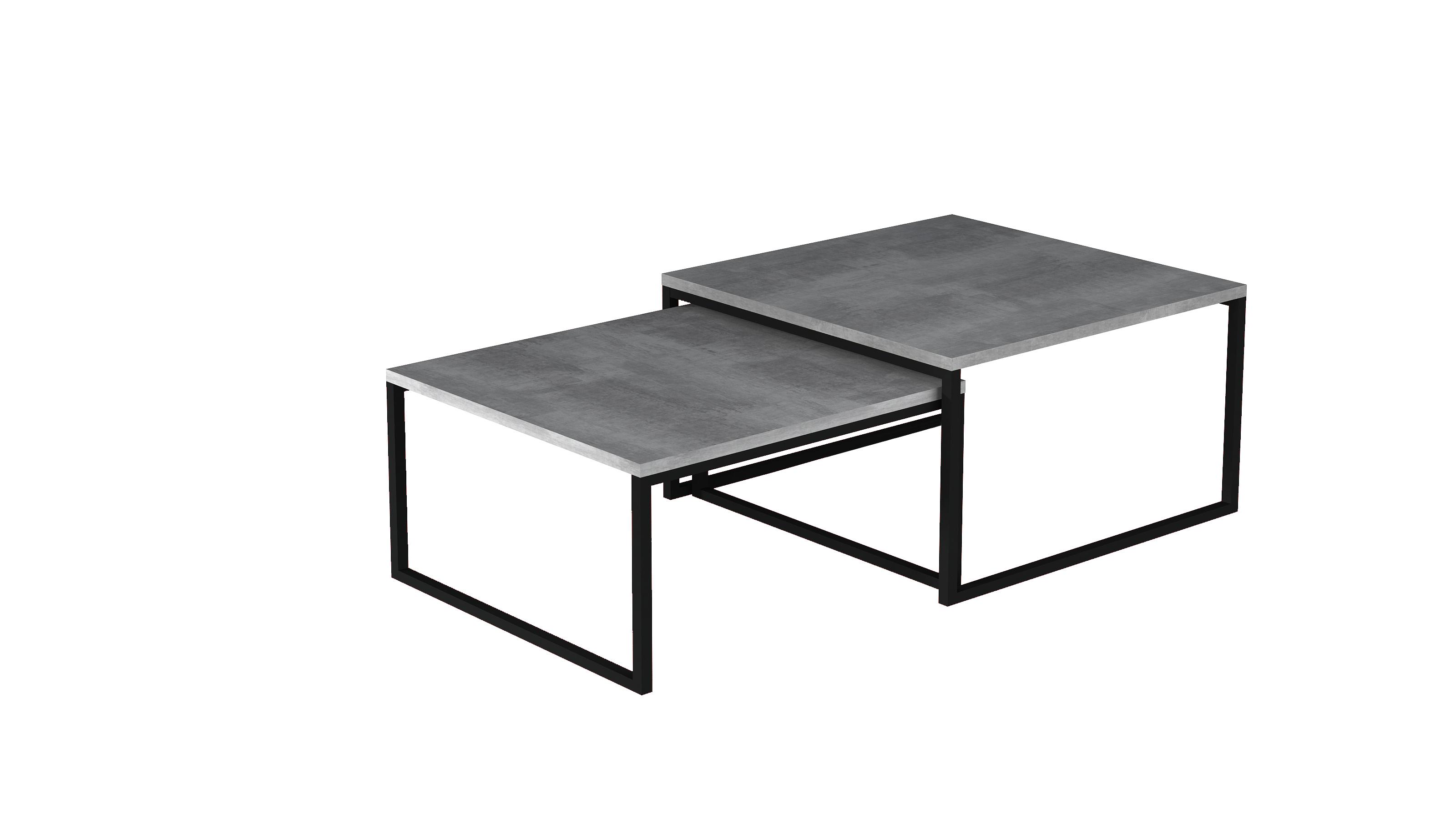 Set 2 ks. konferenčních stolků - Nivessa (beton)