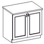 Spodní kuchyňská skříňka - Famm - Kora - 80 D 2F ZB