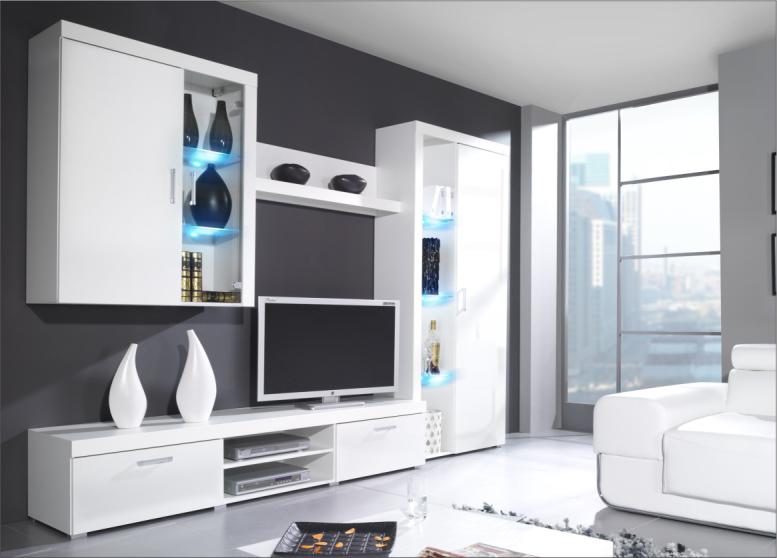 Obývací stěna - Famm - Samba B bílý lesk