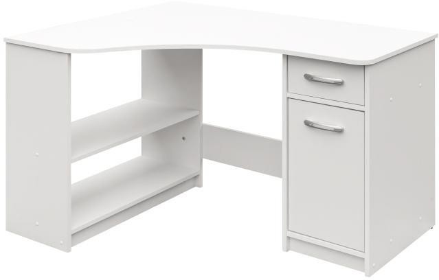 Rohový PC stolek - Famm - Horn 6 (bílá)