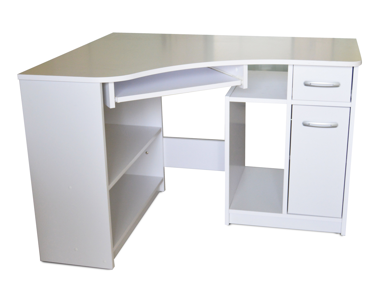 Rohový PC stolek - Famm - Horn 2 (bílá)