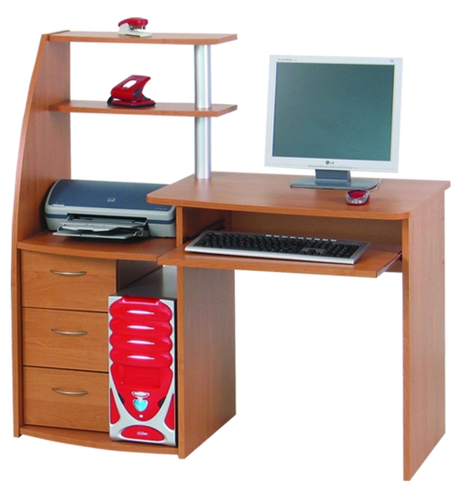 PC stolek - Famm - Viking (s regálem)