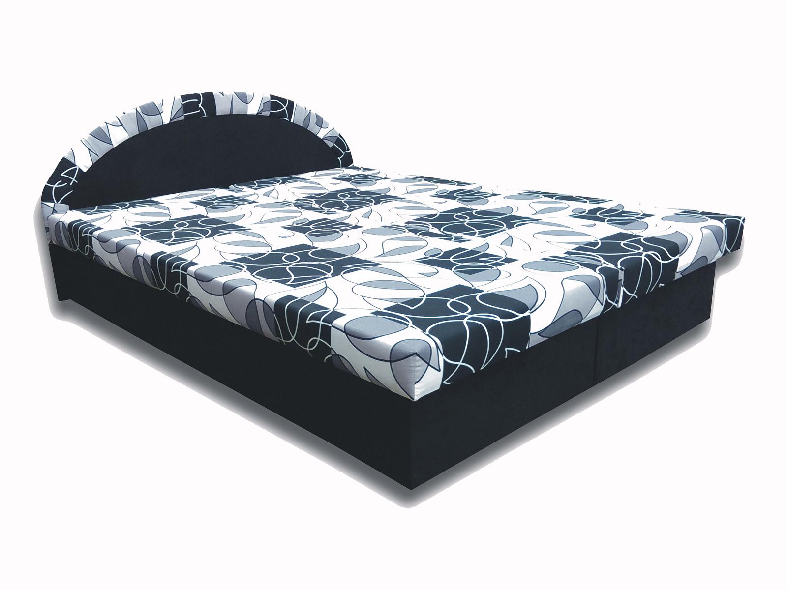 Manželská postel 160 cm - Famm - Elena (černá) (s matrací)