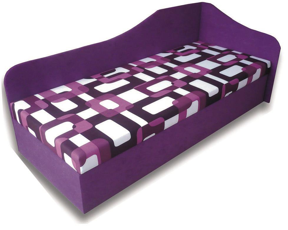 Jednolůžková postel (válenda) 80 cm - Famm - Lux 87 (P) (s matrací)