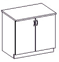 Spodní kuchyňská skříňka - Famm - Sara - 80 D 2F ZB