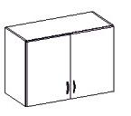 Horní kuchyňská skříňka - Famm - Sara - 80 G 60