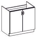 Spodní kuchyňská skříňka - Famm - Sara - 80 ZL 2F BB