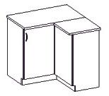 Spodní kuchyňská skříňka, rohová - Famm - Sara - 90 90 DN ZB