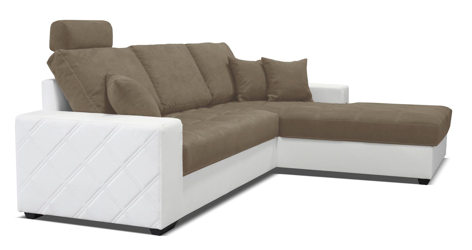 Rohová sedací souprava - Po-Sed - Mondo (bílá + piesková) (P)