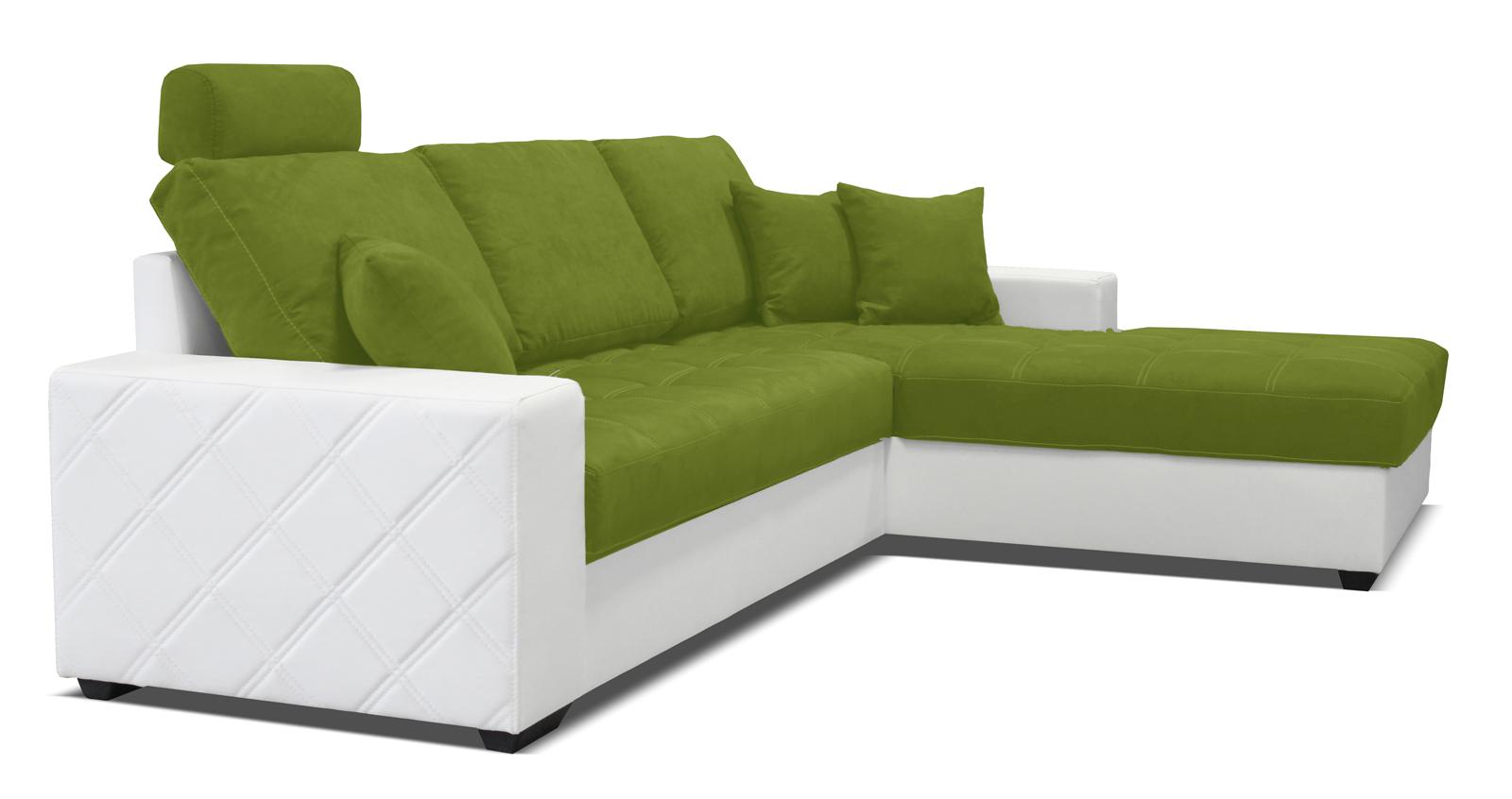 Rohová sedací souprava - Po-Sed - Mondo (bílá + pistácie) (P)