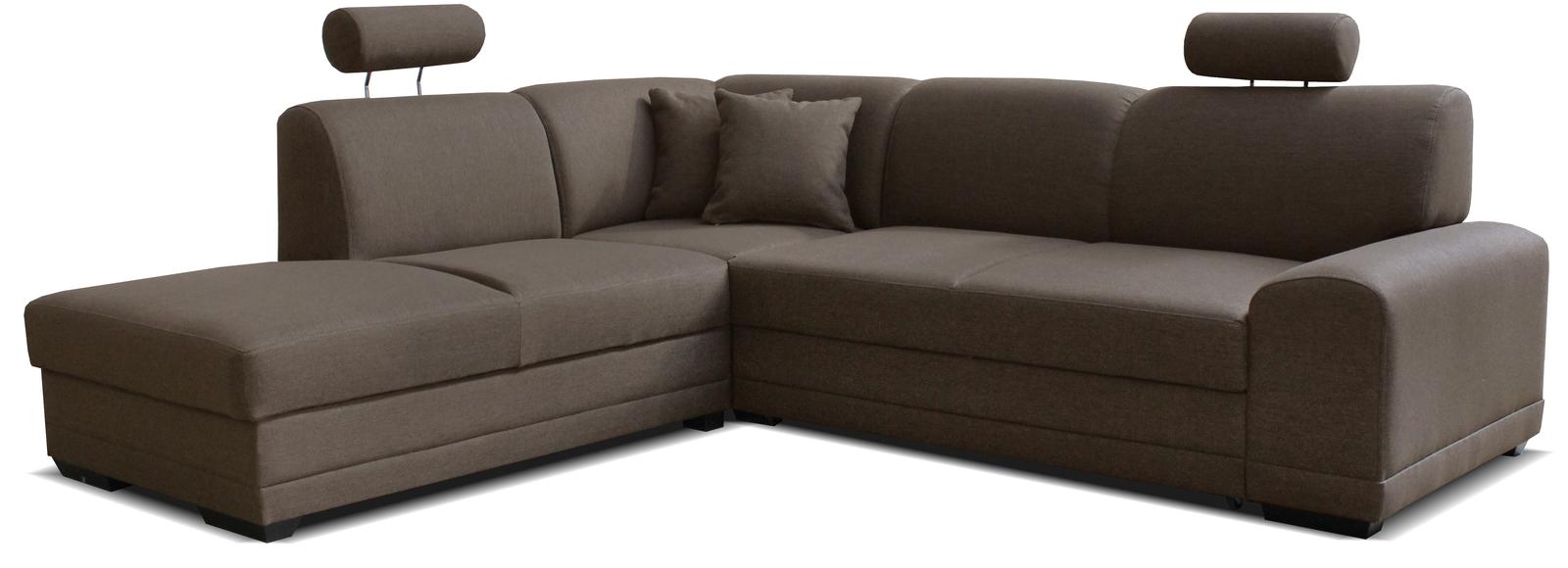 Rohová sedací souprava - Po-Sed - Laon II L+2F (L) hnědá