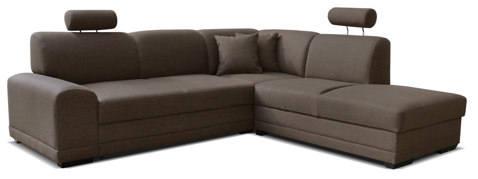 Rohová sedací souprava - Po-Sed - Laon II 2F+L (P) hnědá
