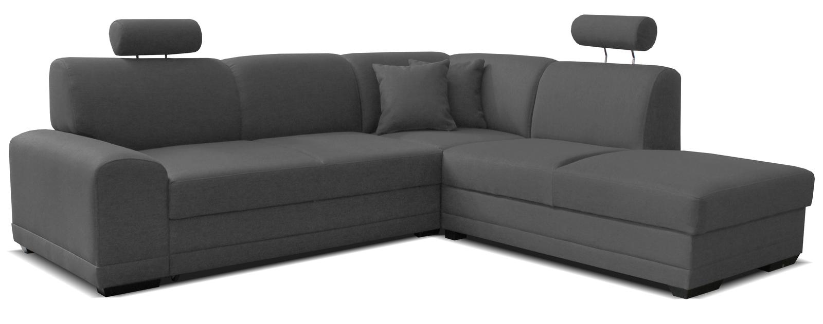 Rohová sedací souprava - Po-Sed - Laon II 2F+L (P) tmavošedá