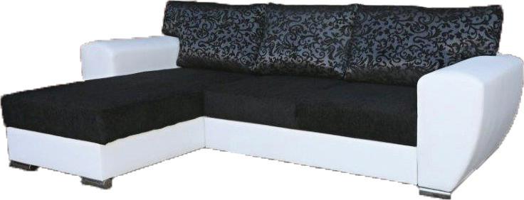 Rohová sedací souprava - Famm - Larisa (L) polštáře černošedé