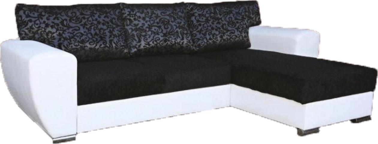 Rohová sedací souprava - Famm - Larisa (P) polštáře černošedé