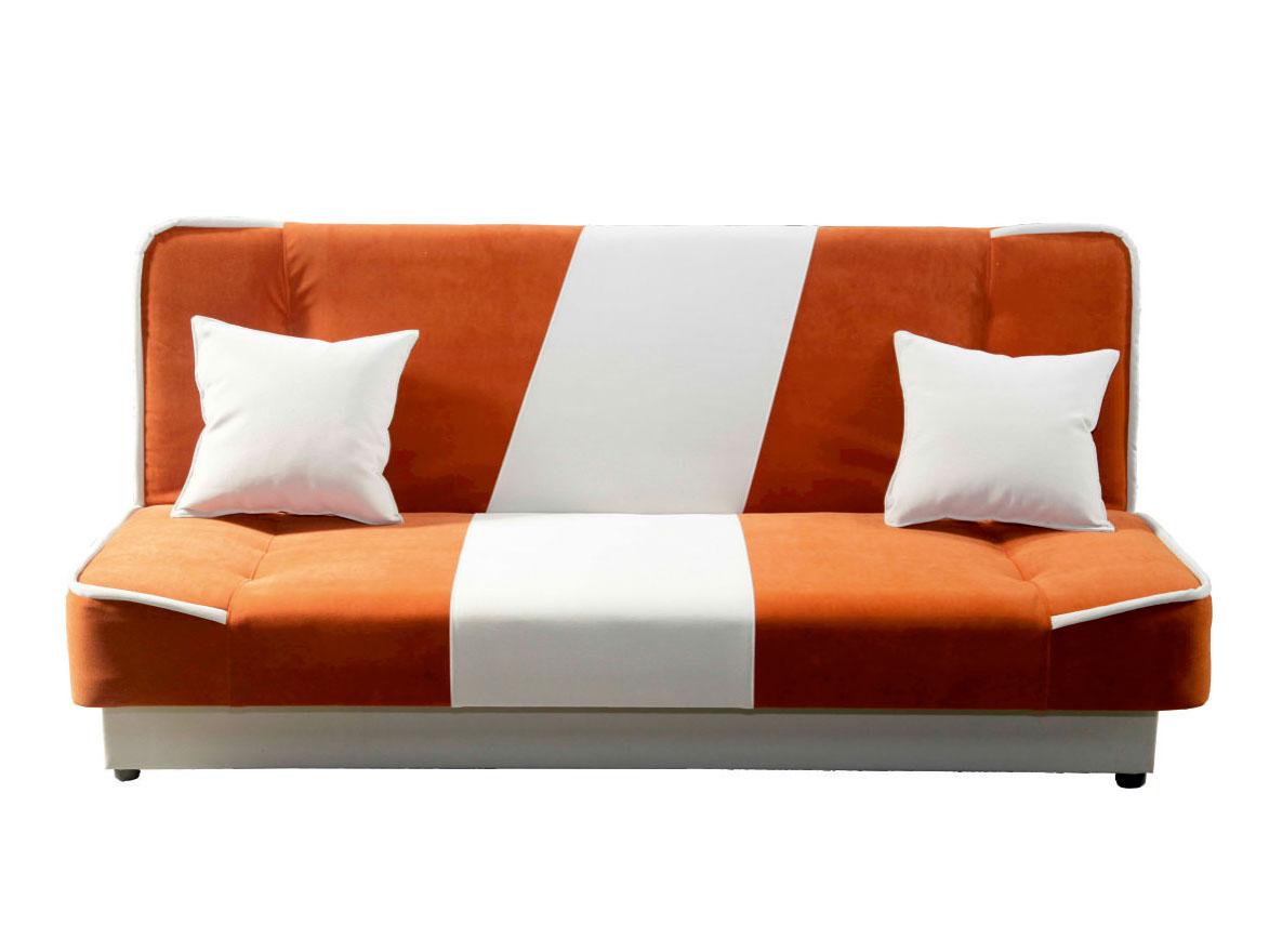 Pohovka - Famm - Lexi 3R oranžová + béžová