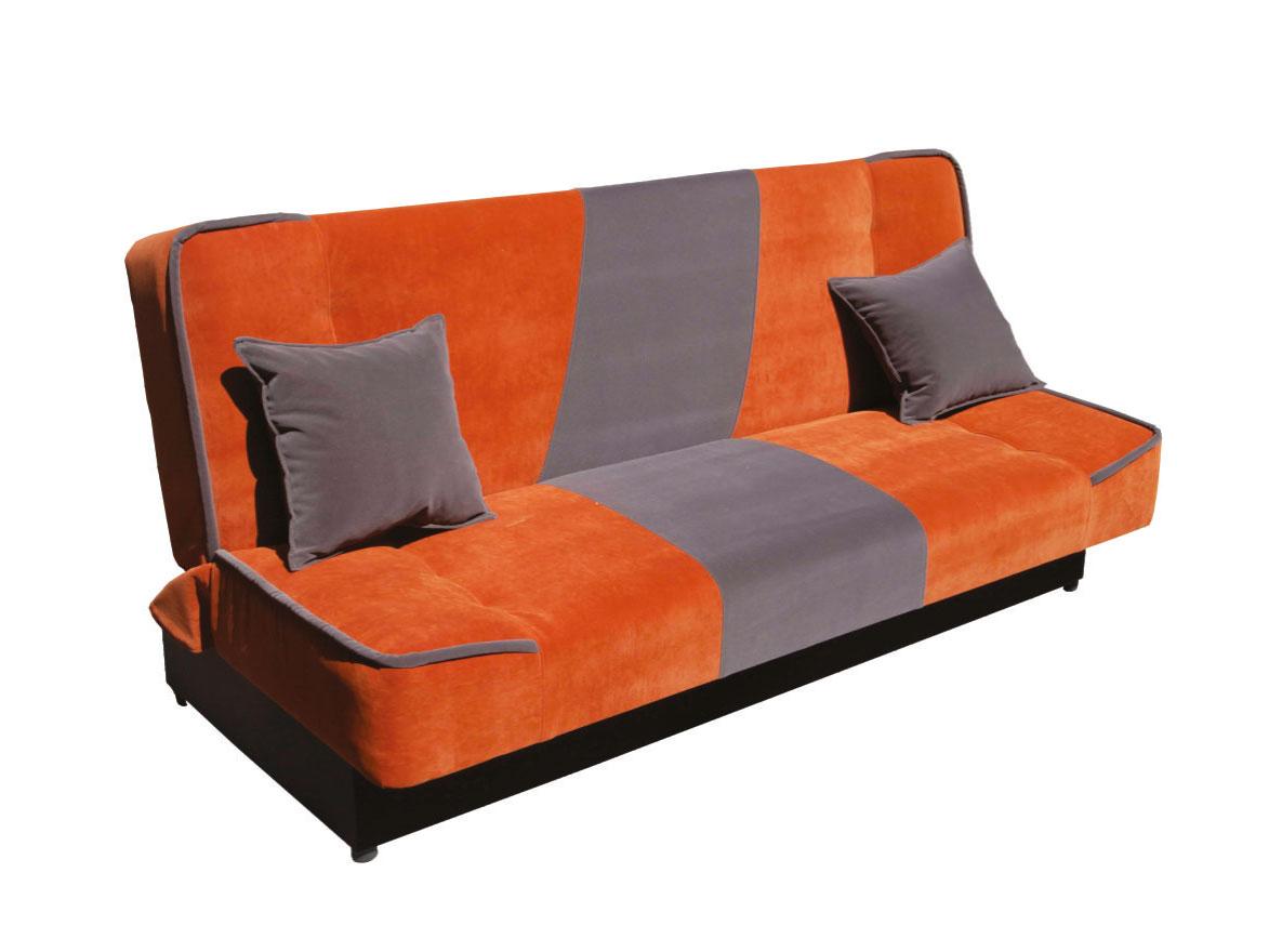 Pohovka - Famm - Lexi 3R oranžová + šedá