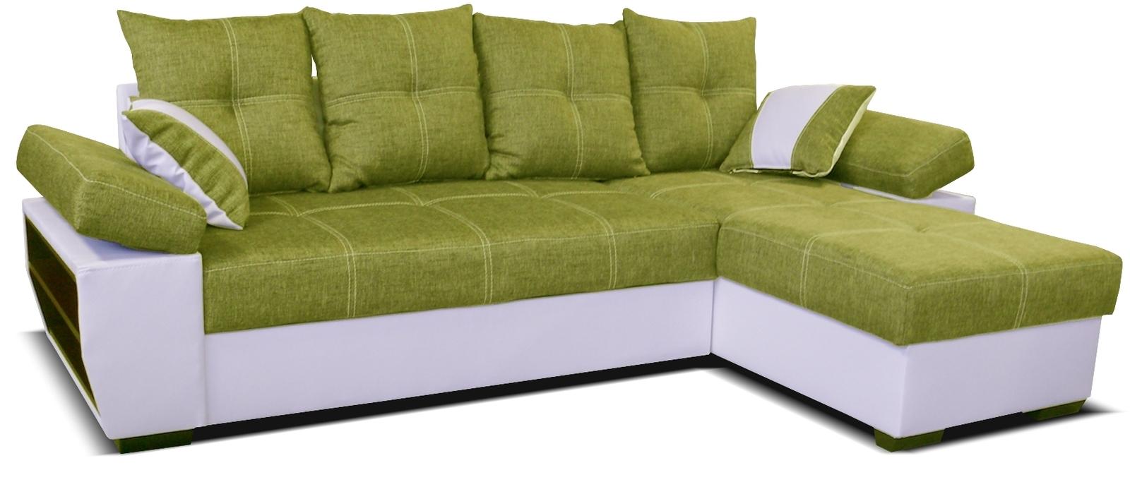 Rohová sedací souprava - Po-Sed - Viena 2F+L (P) bílá + zelená