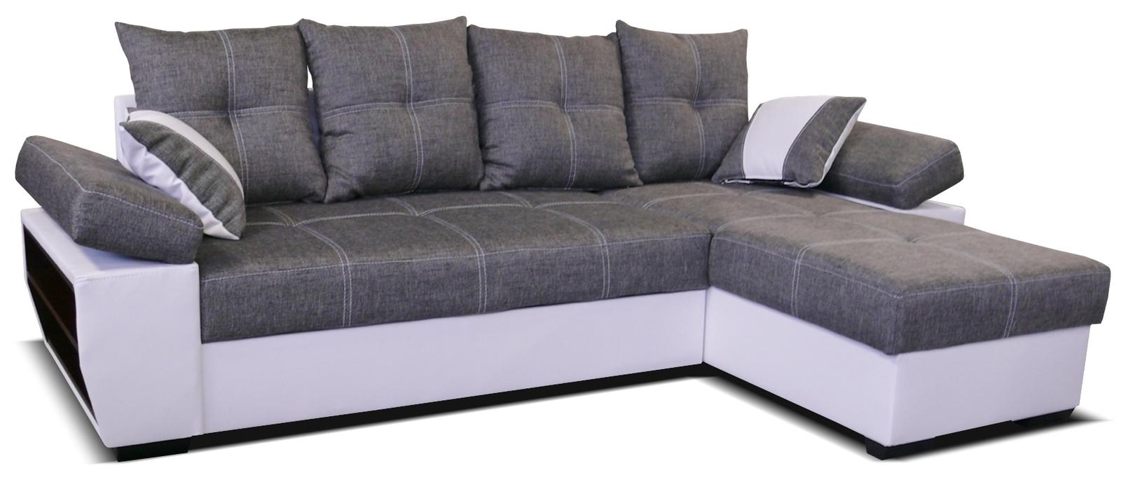 Rohová sedací souprava - Po-Sed - Viena 2F+L (P) bílá + šedá